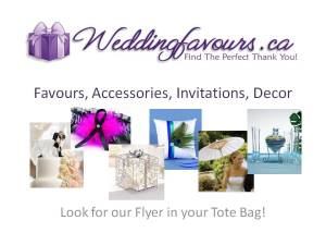 Weddingfavours.ca at Toronto's Bridal Show
