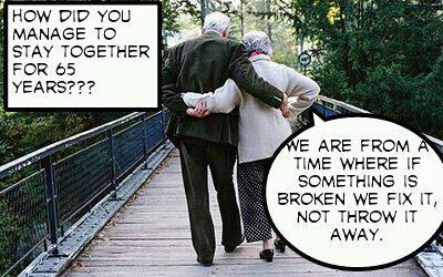 Sweet quote about marriage old people couple in love